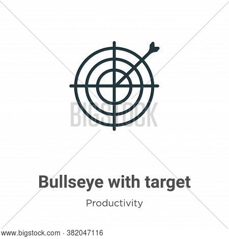 Bullseye With Target Symbol Icon From Productivity Collection Isolated On White Background.