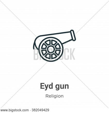 Eyd gun icon isolated on white background from religion collection. Eyd gun icon trendy and modern E