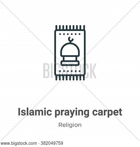 Islamic praying carpet icon isolated on white background from religion collection. Islamic praying c