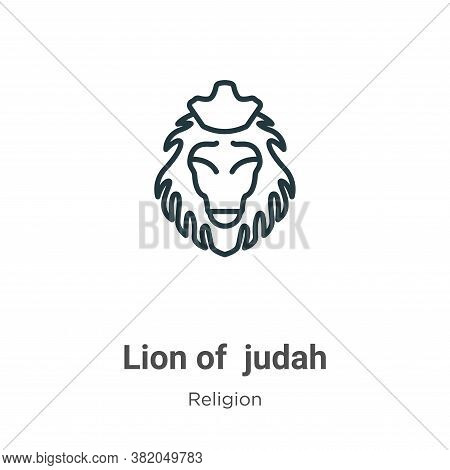 Lion of judah icon isolated on white background from religion collection. Lion of judah icon trendy
