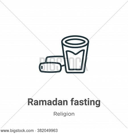 Ramadan fasting icon isolated on white background from religion collection. Ramadan fasting icon tre