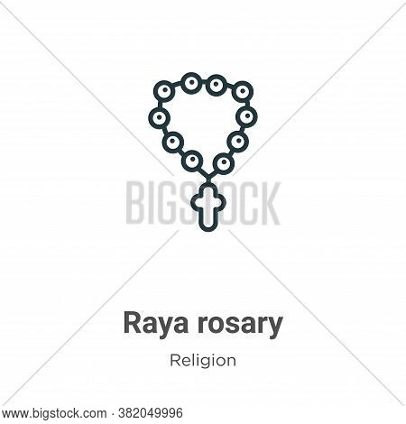 Raya rosary icon isolated on white background from religion collection. Raya rosary icon trendy and