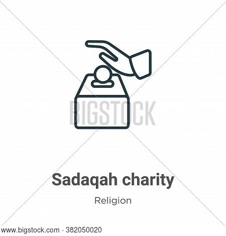 Sadaqah charity icon isolated on white background from religion collection. Sadaqah charity icon tre