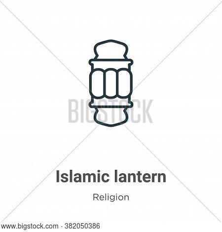 Islamic lantern icon isolated on white background from religion collection. Islamic lantern icon tre