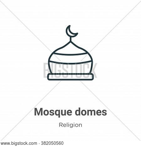 Mosque domes icon isolated on white background from religion collection. Mosque domes icon trendy an