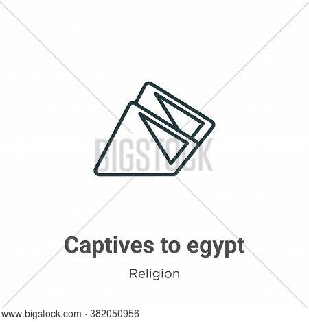 Captives To Egypt Icon From Religion Collection Isolated On White Background.