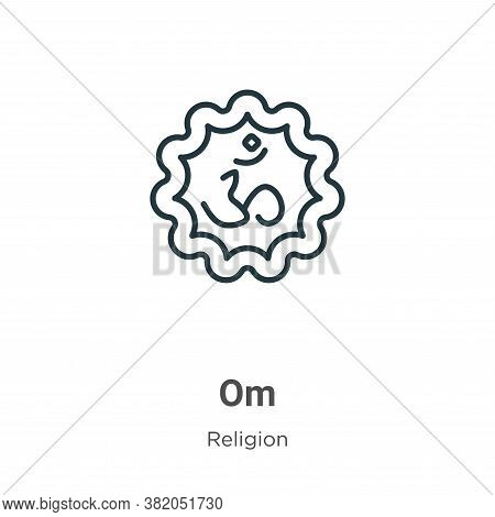 Om icon isolated on white background from religion collection. Om icon trendy and modern Om symbol f