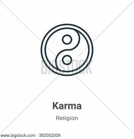 Karma icon isolated on white background from religion collection. Karma icon trendy and modern Karma