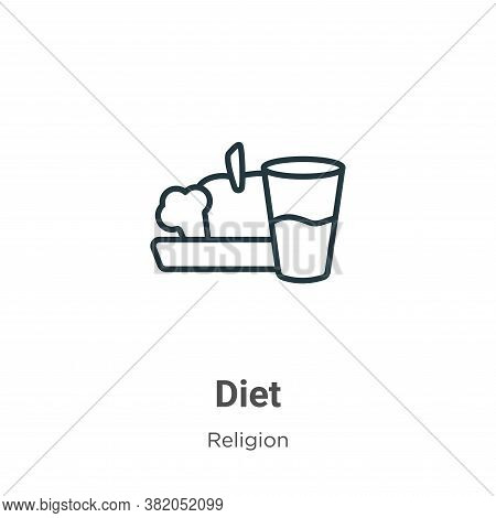 Diet icon isolated on white background from religion collection. Diet icon trendy and modern Diet sy