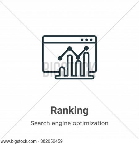 Ranking icon isolated on white background from search engine optimization collection. Ranking icon t