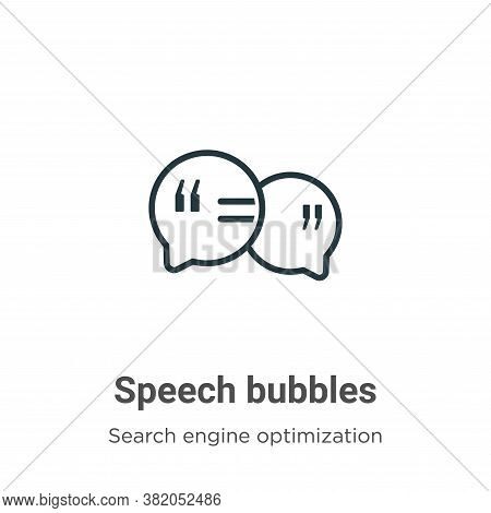 Speech bubbles icon isolated on white background from search engine optimization collection. Speech