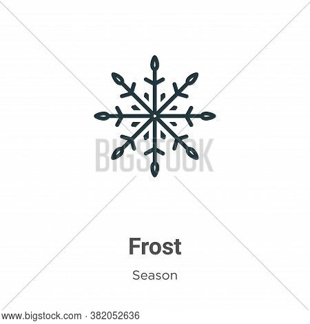 Frost icon isolated on white background from season collection. Frost icon trendy and modern Frost s