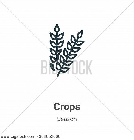 Crops icon isolated on white background from season collection. Crops icon trendy and modern Crops s