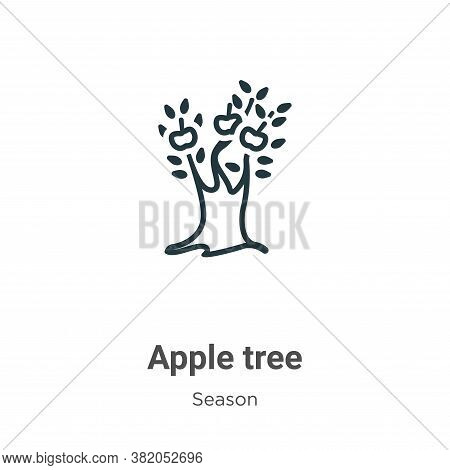 Apple tree icon isolated on white background from season collection. Apple tree icon trendy and mode