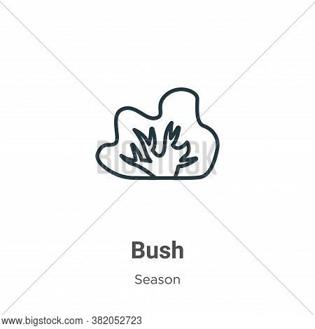 Bush icon isolated on white background from season collection. Bush icon trendy and modern Bush symb