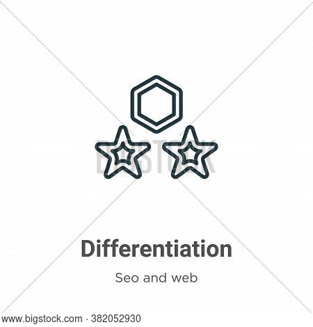 Differentiation Icon From Seo And Web Collection Isolated On White Background.