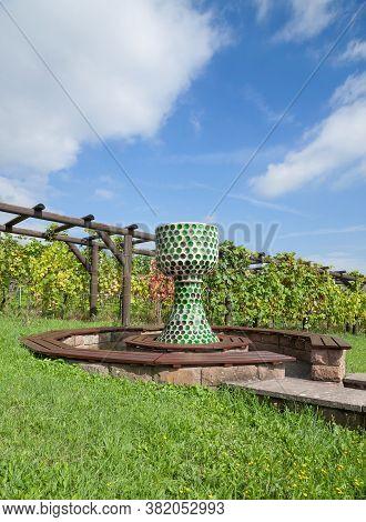 Resting Place In Vineyard In Palatinate Wine Region,rhineland-palatinate,germany