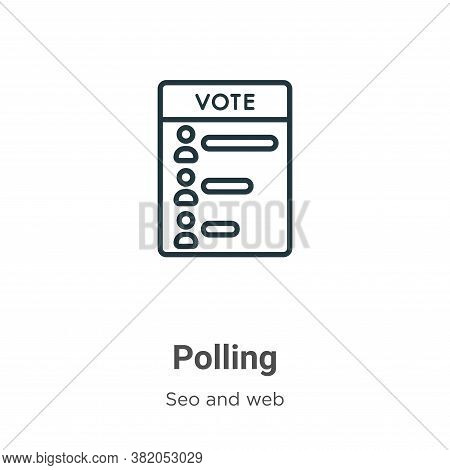 Polling Icon From Seo And Web Collection Isolated On White Background.