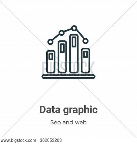 Data graphic icon isolated on white background from seo and web collection. Data graphic icon trendy