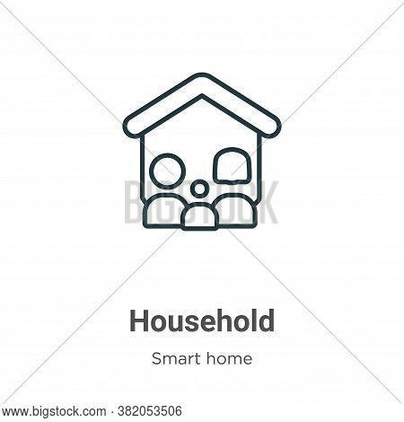 Household icon isolated on white background from smart home collection. Household icon trendy and mo