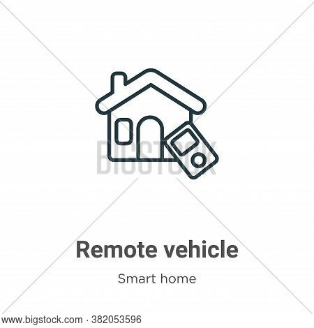 Remote vehicle icon isolated on white background from smart home collection. Remote vehicle icon tre