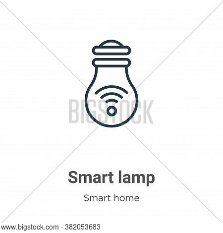 Smart lamp icon isolated on white background from smart home collection. Smart lamp icon trendy and