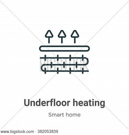 Underfloor heating icon isolated on white background from smart home collection. Underfloor heating