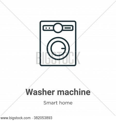 Washer machine icon isolated on white background from smart home collection. Washer machine icon tre