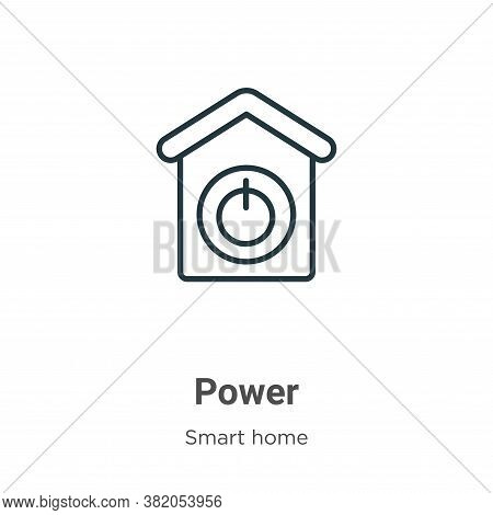 Power icon isolated on white background from smart house collection. Power icon trendy and modern Po