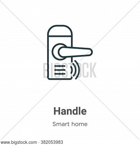 Handle icon isolated on white background from smart house collection. Handle icon trendy and modern
