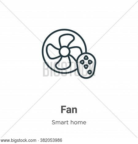 Fan icon isolated on white background from smart house collection. Fan icon trendy and modern Fan sy