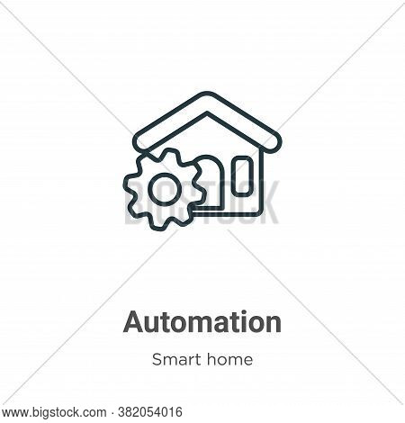 Automation icon isolated on white background from smart house collection. Automation icon trendy and
