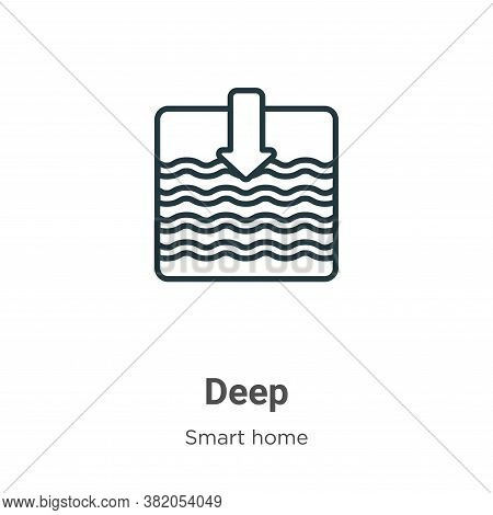 Deep icon isolated on white background from smart house collection. Deep icon trendy and modern Deep