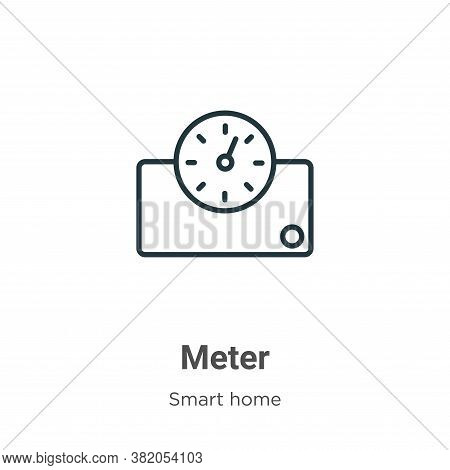 Meter icon isolated on white background from smart house collection. Meter icon trendy and modern Me