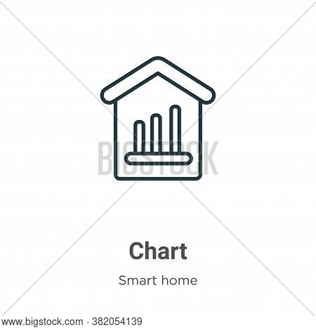 Chart icon isolated on white background from smart house collection. Chart icon trendy and modern Ch