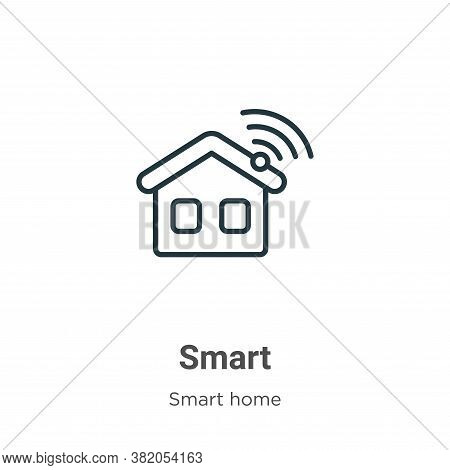 Smart icon isolated on white background from smart house collection. Smart icon trendy and modern Sm