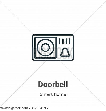 Doorbell icon isolated on white background from smart house collection. Doorbell icon trendy and mod