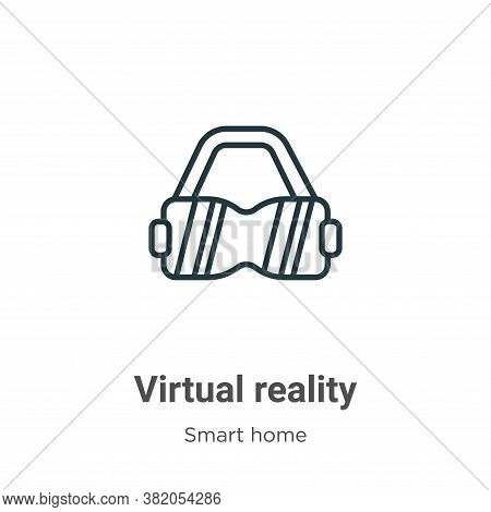Virtual reality icon isolated on white background from smart house collection. Virtual reality icon