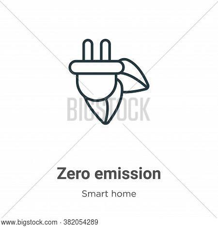 Zero emission icon isolated on white background from smart house collection. Zero emission icon tren