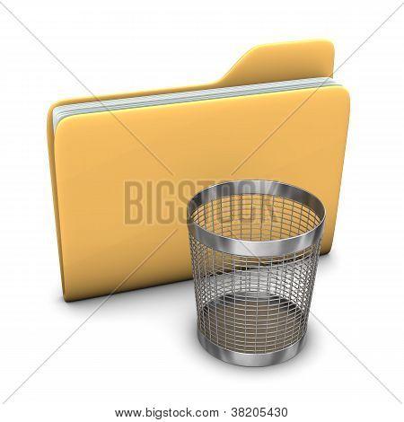 Folder Wastebasket
