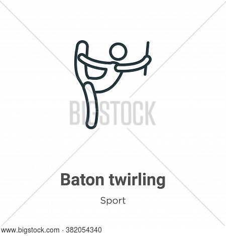 Baton twirling icon isolated on white background from sport collection. Baton twirling icon trendy a