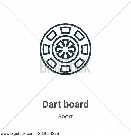 Dart board icon isolated on white background from sport collection. Dart board icon trendy and moder