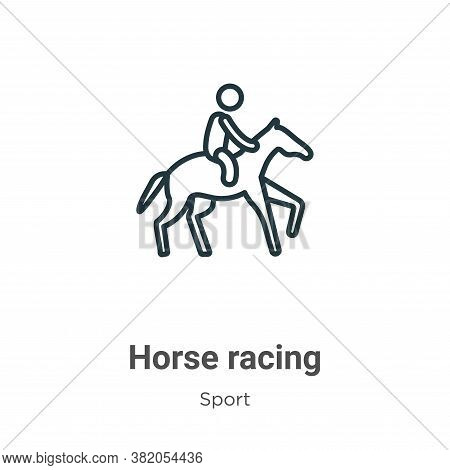 Horse racing icon isolated on white background from sport collection. Horse racing icon trendy and m