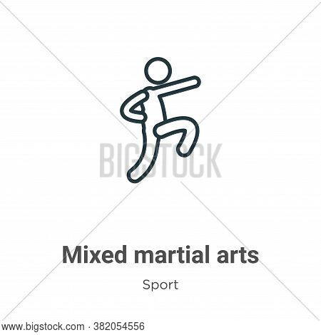 Mixed martial arts icon isolated on white background from sport collection. Mixed martial arts icon