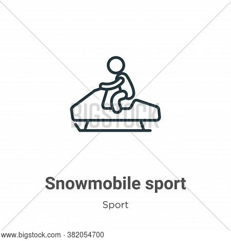 Snowmobile sport icon isolated on white background from sport collection. Snowmobile sport icon tren