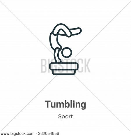 Tumbling icon isolated on white background from sport collection. Tumbling icon trendy and modern Tu