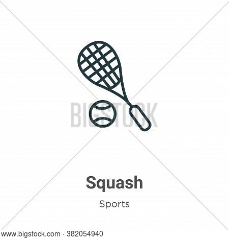Squash icon isolated on white background from sports collection. Squash icon trendy and modern Squas