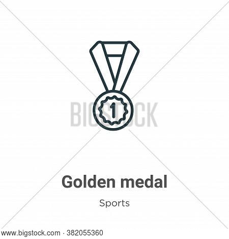 Golden medal icon isolated on white background from sports collection. Golden medal icon trendy and