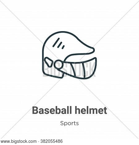 Baseball helmet icon isolated on white background from sports collection. Baseball helmet icon trend