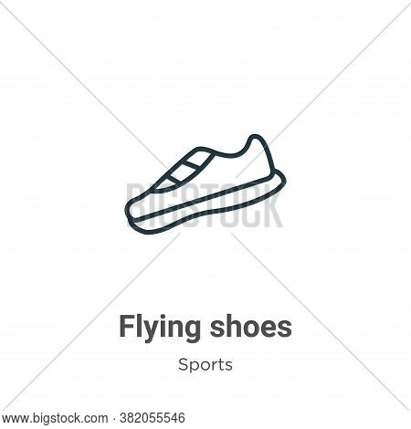 Flying shoes icon isolated on white background from sports collection. Flying shoes icon trendy and